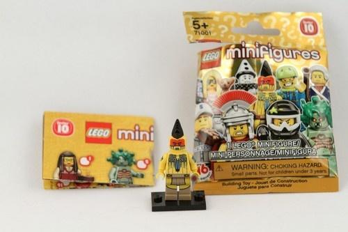 2013 LEGO Minifigure Series 10 71001 Tomahawk Native American Indian Figure 5