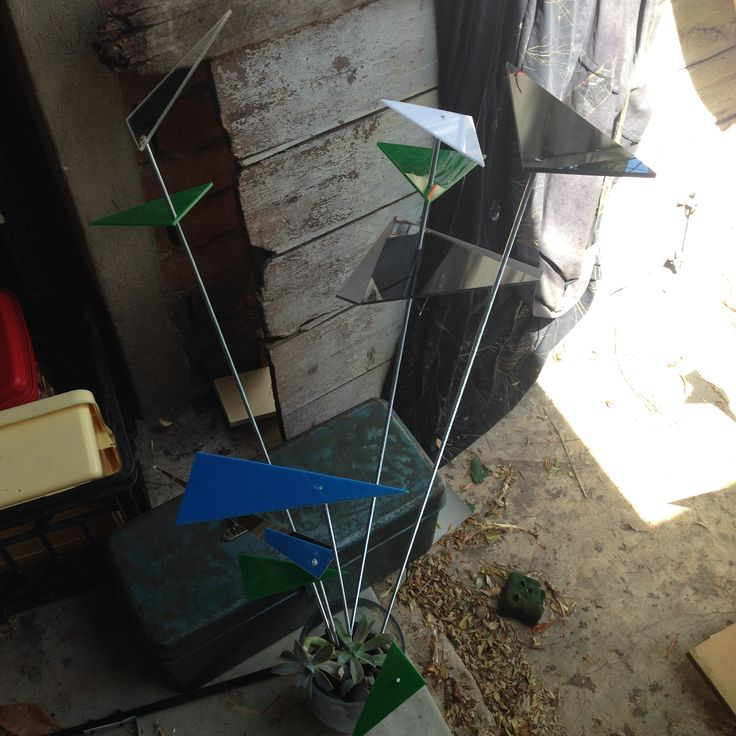 """60th decorations - entry table piece - not in situ!  Client had a blue/green geometric invite and said """"nothing cheesy, no balloons, no gold or silver."""""""