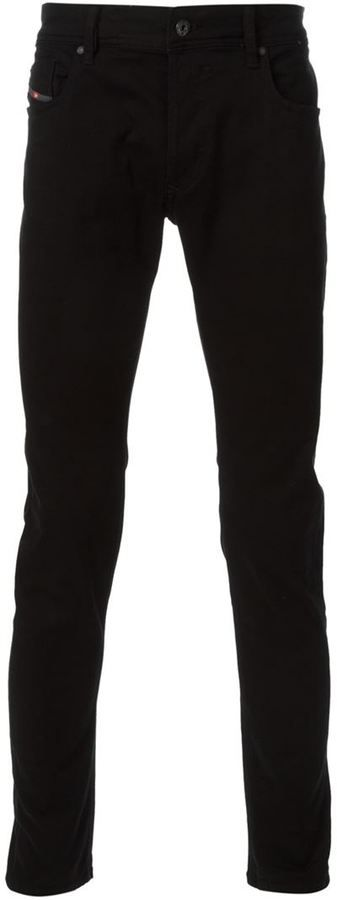 $115, Black Skinny Jeans: Sleenker Skinny Jeans by Diesel. Sold by farfetch.com. Click for more info: http://lookastic.com/men/shop_items/140052/redirect