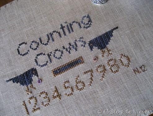 Counting Crows de Twisted Threads punto de cruz cross stitch point de croix