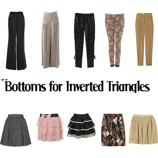 Bottoms for Inverted Triangles-SS by kittyfantastica on Polyvore