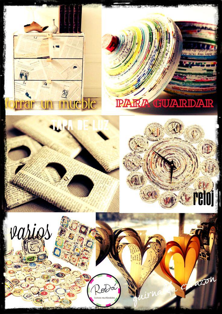 Ideas para reusar Papel De Diario!!  sumate y reciclá! #DIY  #recycle
