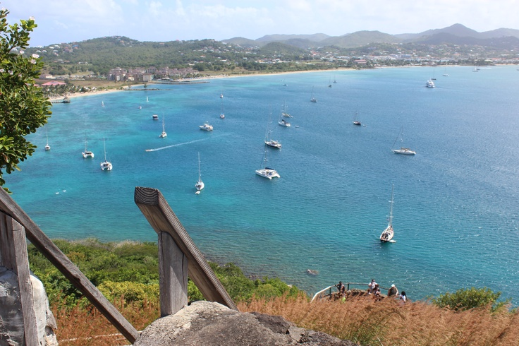 Rodney Bay, view from Pigeon Island in St. Lucia