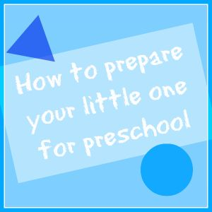 Simple, easy and good ideas for Parents to do during the summer to help their children transition into Preschool