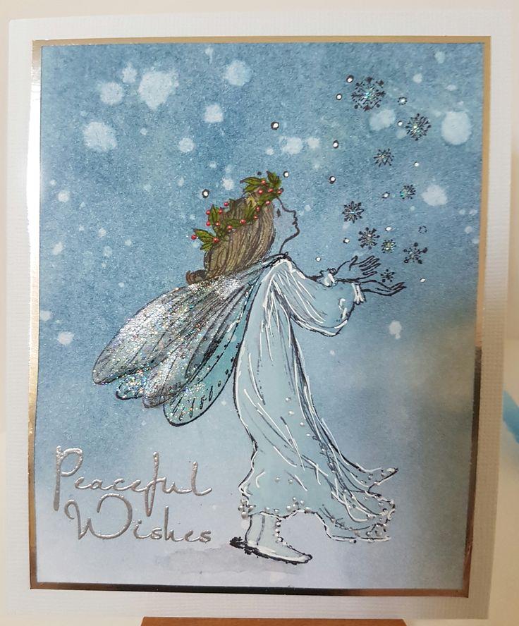 Magic of Christmas 4363L by Penny Black; Peaceful Wishes 4579C by Stamp-it. Card by Susan of Art Attic Studio