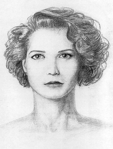 quick pencil portrait sketch, artist Eduard Moes