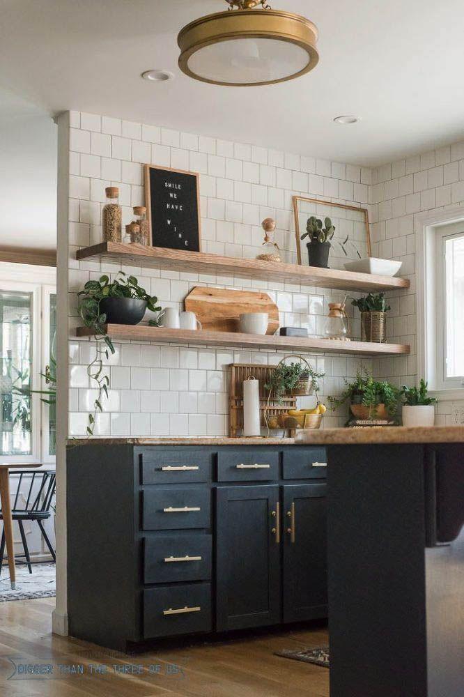 14 Stellar Ikea Hacks That Manage Your Entire Cooking Area Zeltahome Com Floating Shelves Kitchen Bohemian Kitchen Floating Shelves