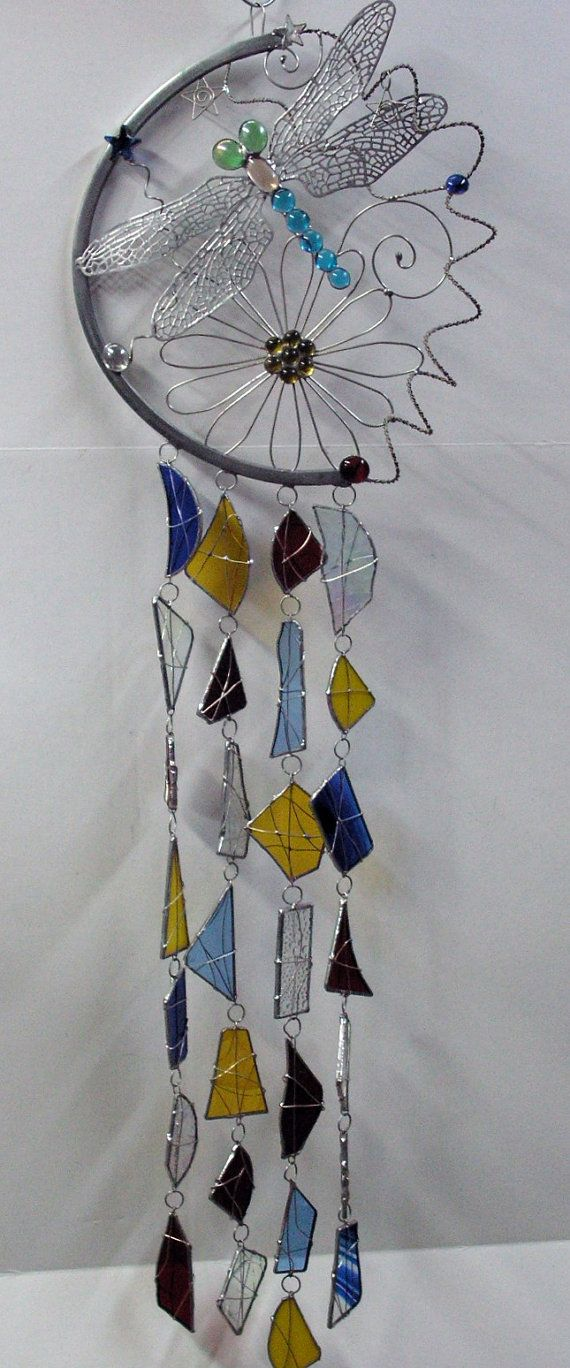 Dragonfly Windchime by SerendipityGlassWrks on Etsy, $65.00
