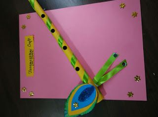 Art ,Craft ideas and bulletin boards for elementary schools: Janmashtami craft idea