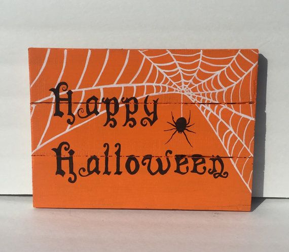 Happy halloween pallet sign halloween by AmbersWoodenBoutique