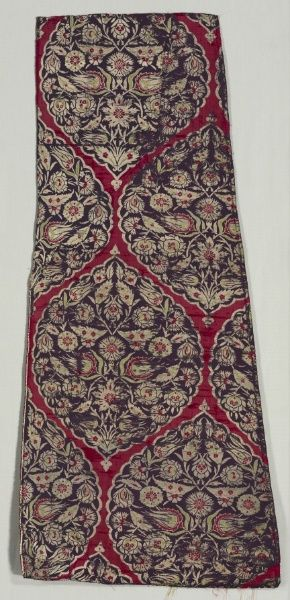 Ottoman Brocaded Silk with Foliate Medallions from a Kaftan.  1550-1570. (Cleveland Museum of Art)