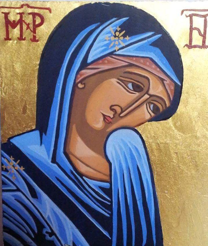 The Sheltering Virgin by ICONSbyUteZendilis on Etsy