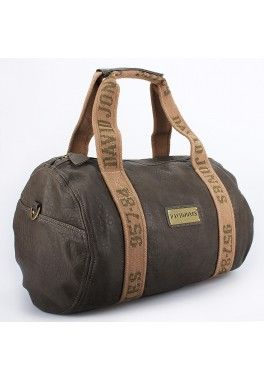 Sac polochon david jones Chocolat