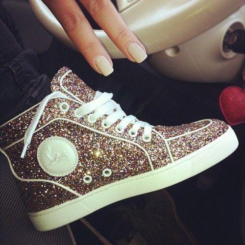 Louboutin sneakers. Love!! I'm sooo getting these! (: