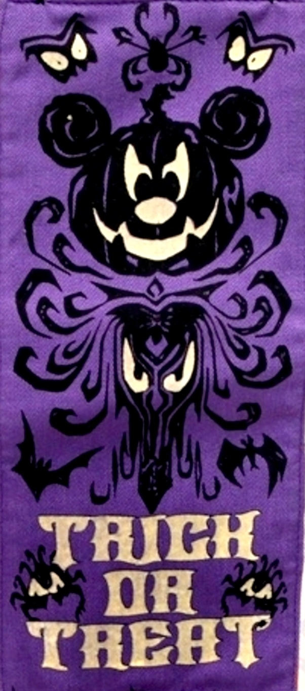 Cool Halloween graphic featuring the Haunted Mansion wallpaper design.