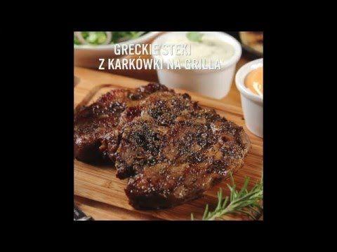 Przepis - Greckie steki z karkówki (przepisy kulinarne Przepisy.pl) - YouTube
