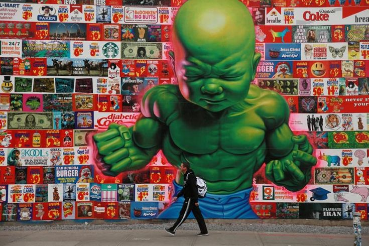 Ron English makes the streets of New York more colorful over the past 25 years.