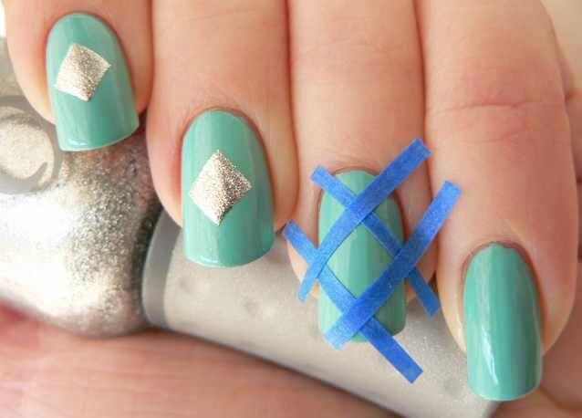 2 maneras de decorar tus uñas usando cinta adhesiva - http://xn--decorandouas-jhb.com/2-maneras-de-decorar-tus-unas-usando-cinta-adhesiva/