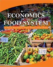 """""""Economics of the Food System""""  By David Blandford, James Dunn, and Alan Webb    This text provides a comprehensive overview of the food system, beginning with the physical and geographical context of United States agriculture. Concepts and tools of applied economics are then used to analyze the structure and economic characteristics of each component of the food system."""