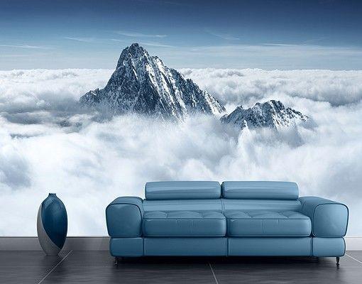 Selbstklebende Tapete - Fototapete Die #Alpen über den #Wolken #naturpur #nature #Tapete #Sonne #Landschaft #freedom #Natur #Abenteuer #berge