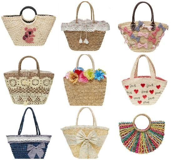 Varietà di borse in paglia