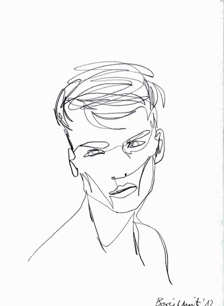 Line Drawing Portrait Tumblr : Best images about continuous line portraits on