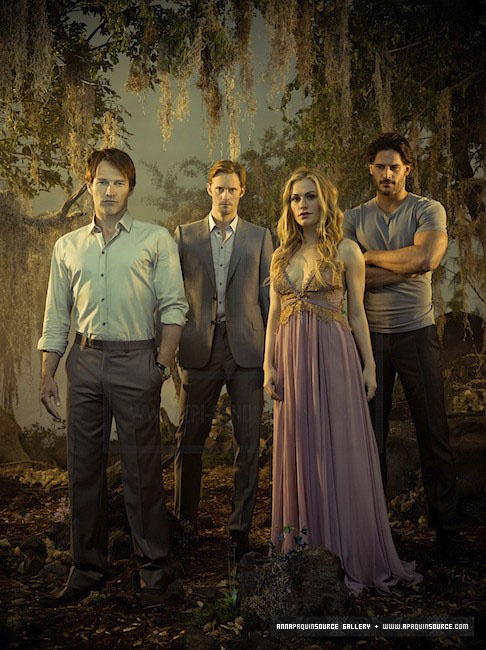 Bill Compton, Eric Northman, Sookie Stackhouse et Alcide Herveaux (True Blood)