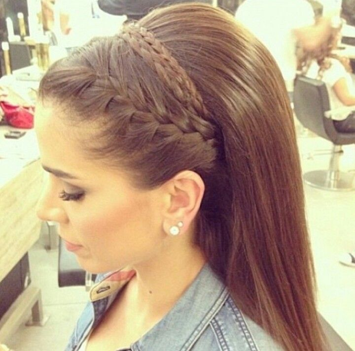 Braided headband with bump | Hair | Pinterest | Hair style