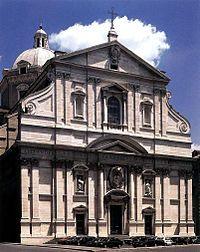Fachada de Il Gesù, considerada la primera iglesia con elementos del Barroco.