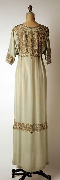 Evening dress Design House: Fortuny  Designer: Mariano Fortuny  Date: early 20th century Culture: Italian Medium: silk Accession Number: 1975.146.2