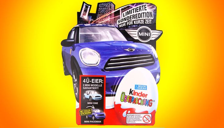 4 киндер сюрприз Машинки Минни куппер коллекция 2014