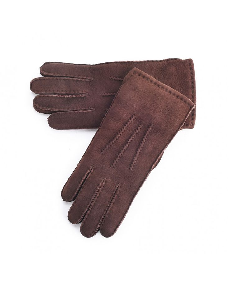 Beautiful hand stitched ladies Brown Sheepskin Gloves to keep your hands cozy and warm this winter. The side wrist vent will ensure a more comfortable fit. Made from 100% Sheepskin. #Sheepskin #gloves #comfy