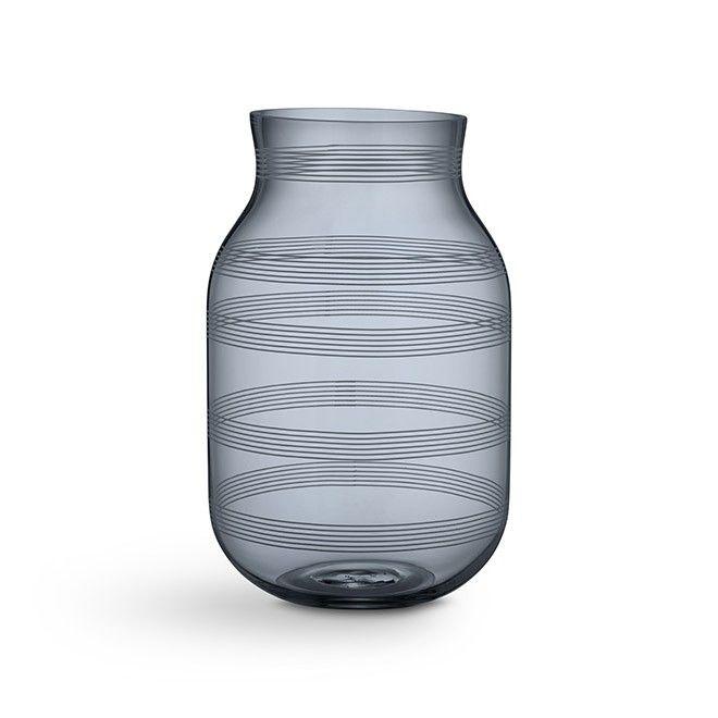Omaggio Vase Stor Steel Blue