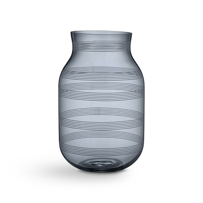 Omaggio vase large steel blue
