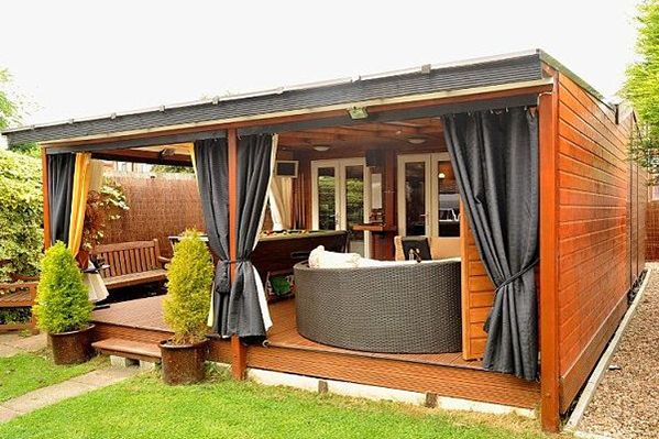 "The ""Pub Shed"" and the ""She Shed"" are the hottest new trends in backyard design! Check it out on thebackyardroom.com"