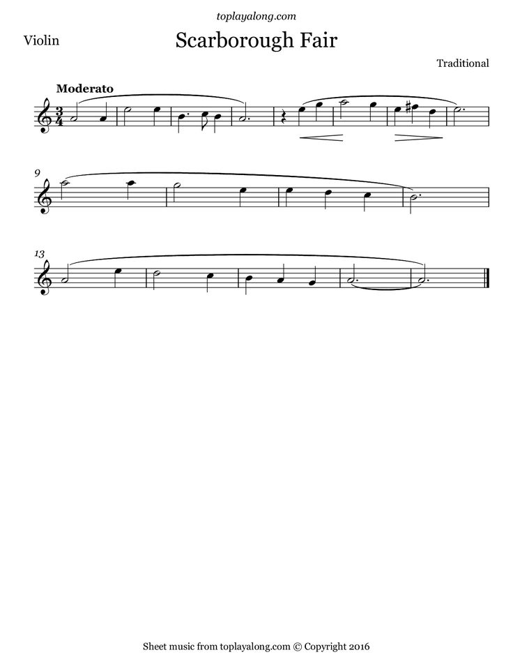 Lyric scarborough fair lyrics and sheet music : 38 best Sheet music images on Pinterest | Sheet music, Clarinet ...
