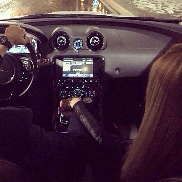 My couple goal Driving in an awesome Jaguar XJ with bae.. For more make sure to check out pure.goodlife ! by pure.couples