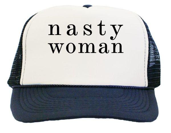 Classy Nasty Woman News Anchor Logo Trucker Hat