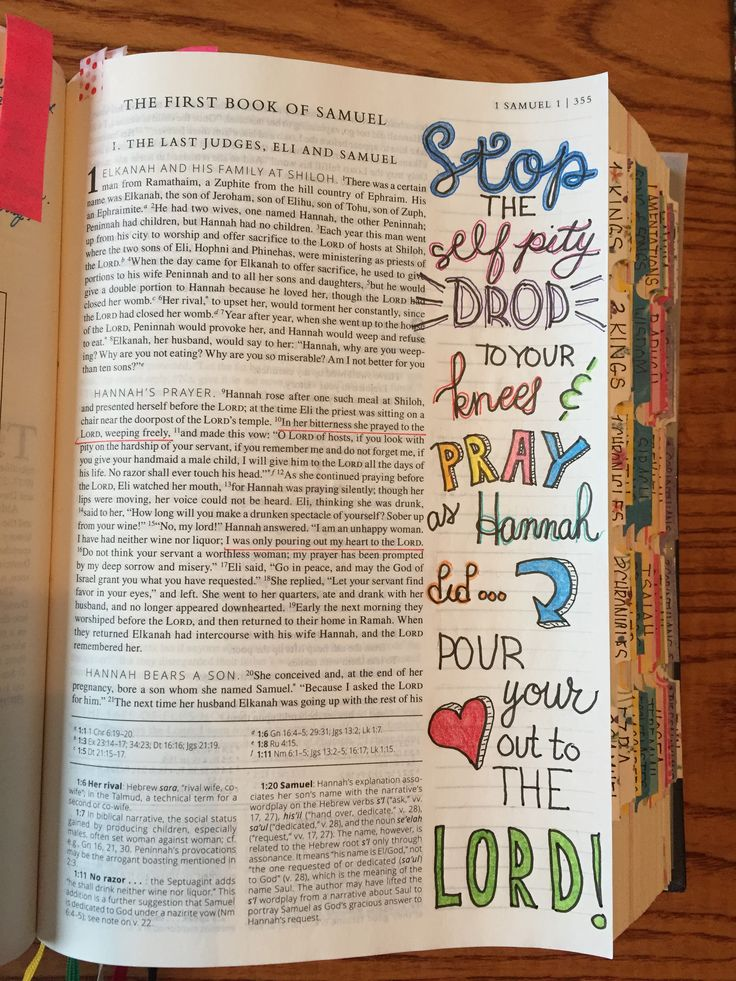 Samuel 1:10 bible journaling