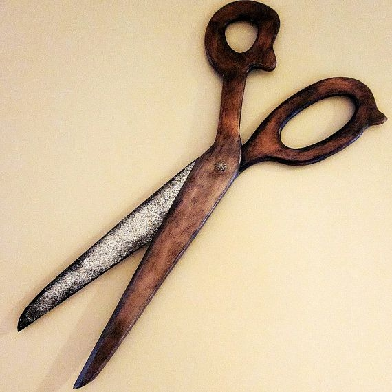 Fancy Giant Scissors Wall Art Adornment - Wall Painting Ideas ...