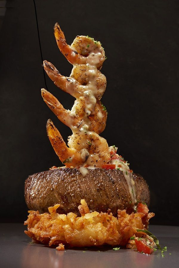 The best foods at Outback Steakhouse - try this Shrimp and sirloin steak tower on their limited time Raise The Steaks menu! AD