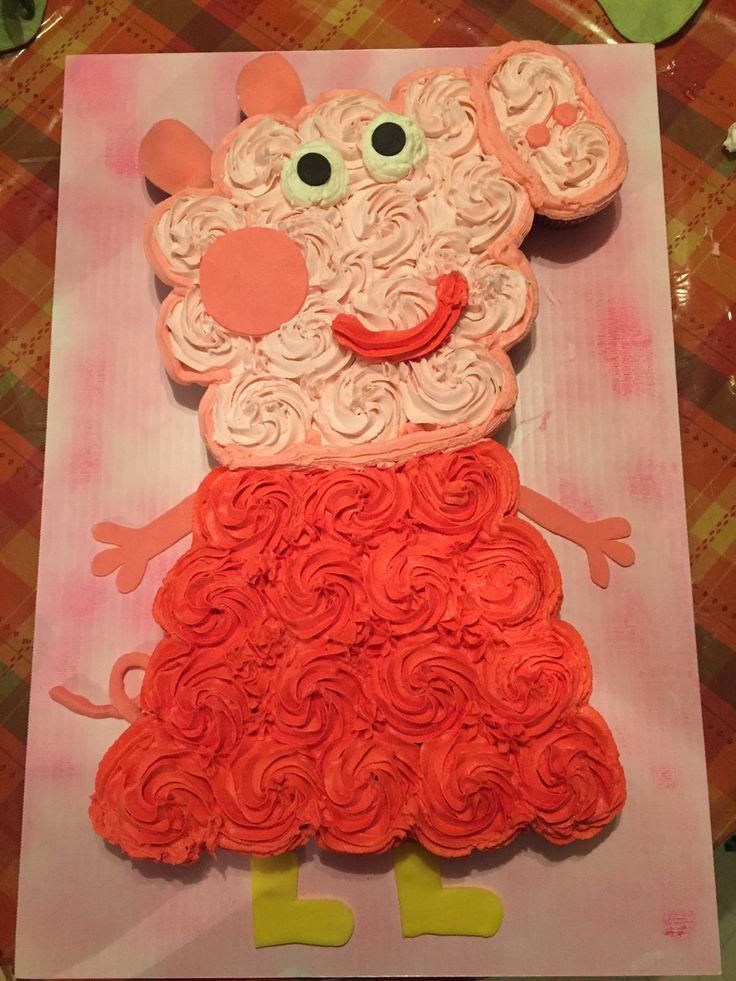 Peppa Pig Cupcake Cake