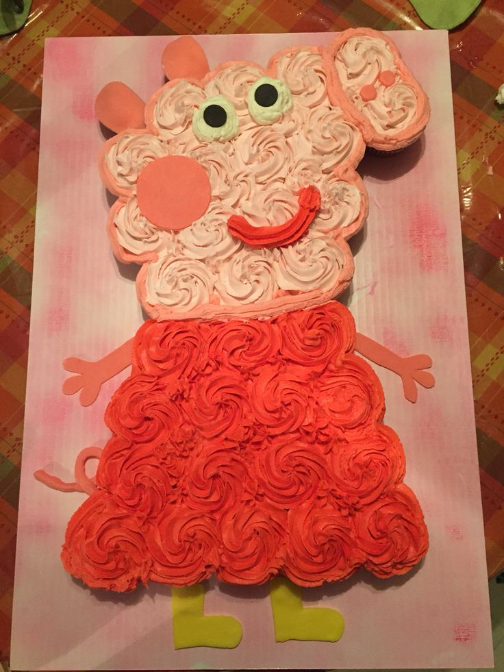Peppa Pig Cupcake Cake!