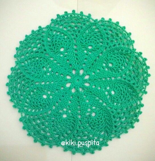 My first Pineapple Doily Crochet  Material : Bali Cotton Lace (Katun Bali    Lace)  *nonblocking  #doily #pineapple #crochet