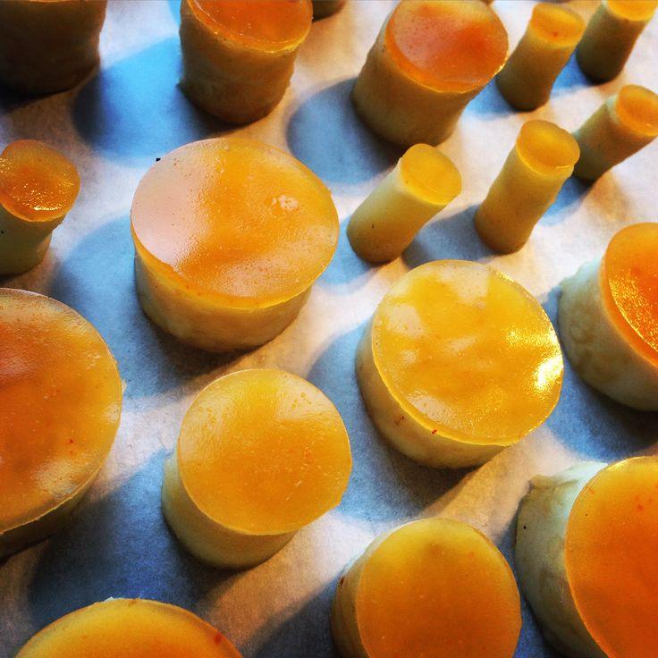 #Food #art Gel of #sea buckthorns and salt baked #celery