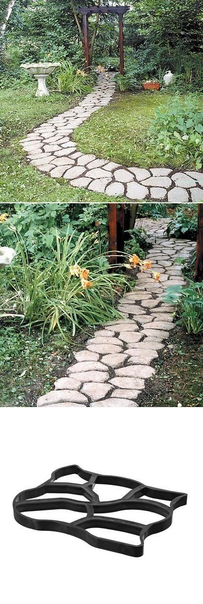 Altijd al zo een mooi tuinpad gewild? Deze mal creëer je eenvoudig jouw eigen sfeervolle pad door de tuin. #tuinieren