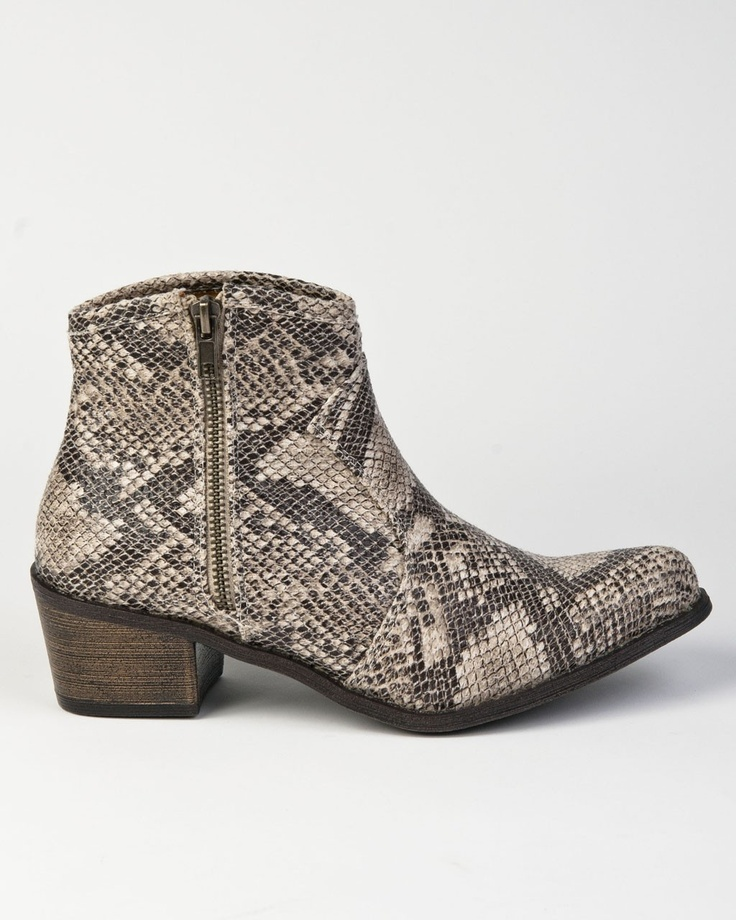 Sloan - Coconuts Cannon Grey Snake Print Ankle Boot, $80.00 (http://sloanboutique.com/coconuts-cannon-grey-snake-print-ankle-boot/)