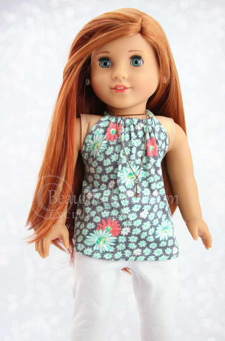 Amber Red Elegance Doll Wig For 18 Custom American Girl