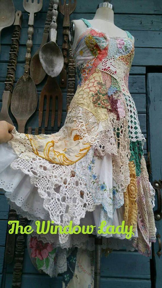 Patchwork Dress Handmade Wedding