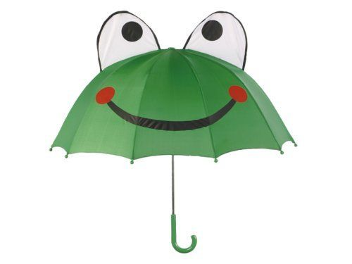 Frog Umbrella Umbrella by Kidorable. $11.50. Kidorable has taken the idea of the humble kids umbrella and transformed this umbrella into a year round fashion necessity. Our frog umbrella will keep your little todder happy and dry all day long! Our kid umbrellas are constructed of 100 percent nylon over an aluminum frame and our child-sized for those little hands. And if you love the way I look alone, you'll go crazy when you see my in my matching frog raincoat and frog rain boot.